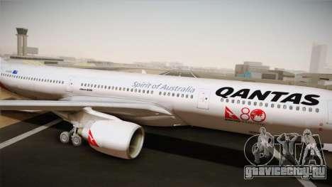 Airbus A330-300 Qantas 80 Years для GTA San Andreas вид сзади слева
