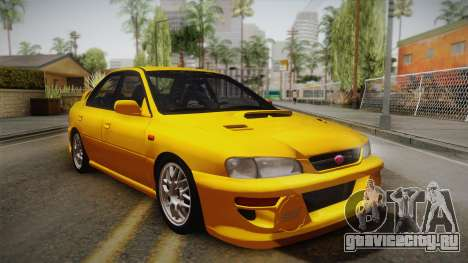 Subaru Impreza WRX STI GC8 1999 v1.0 для GTA San Andreas вид изнутри