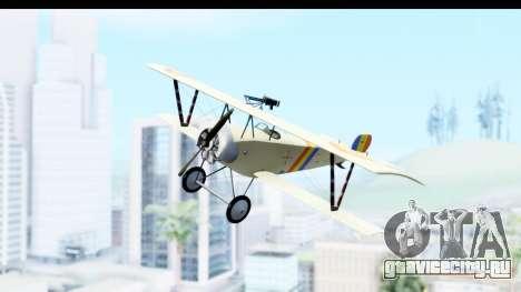 Nieuport 11 Bebe - Nr.865 Romania для GTA San Andreas