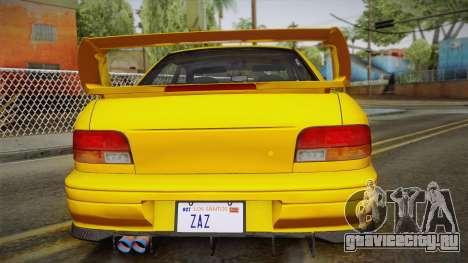 Subaru Impreza WRX STI GC8 1999 v1.0 для GTA San Andreas вид снизу