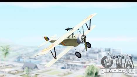 Nieuport 11 Bebe - Nr.865 Romania для GTA San Andreas вид сзади слева