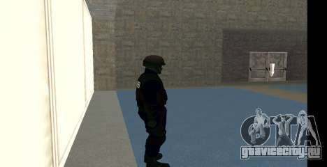 GTA 5 FIB SWAT Blue для GTA San Andreas пятый скриншот