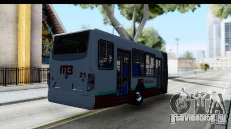 Metrobus de la Ciudad de Mexico Trailer для GTA San Andreas вид сзади слева