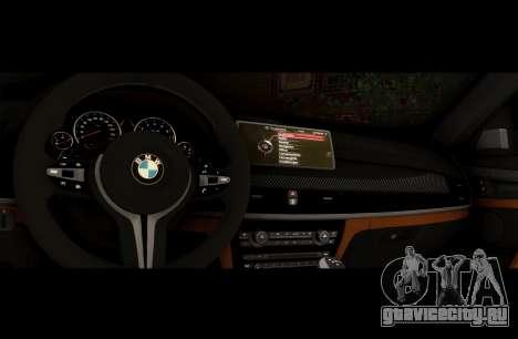 BMW X6M BULKIN ED. для GTA San Andreas вид изнутри