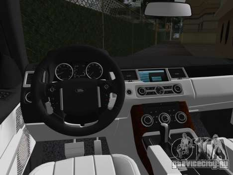 Range Rover Sport HSE (Rims 1) v2.0 для GTA Vice City вид изнутри