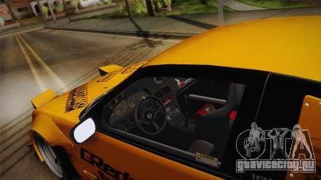 Nissan 180SX Rocket Bunny для GTA San Andreas вид изнутри