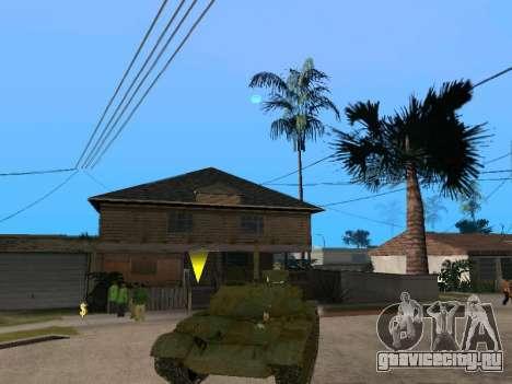Т-62 для GTA San Andreas вид справа