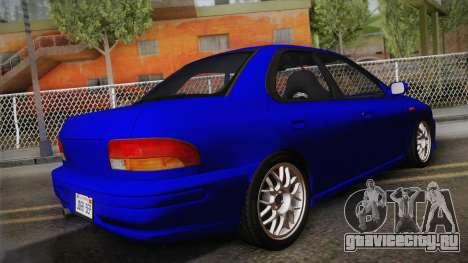 Subaru Impreza WRX STI GC8 1999 v1.0 для GTA San Andreas вид слева