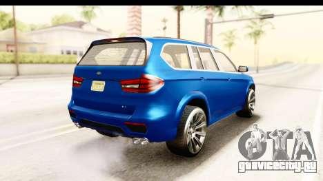 GTA 5 Benefactor XLS для GTA San Andreas вид слева