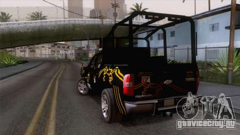 Chevrolet Silverado de la Fuerza Coahuila для GTA San Andreas вид слева