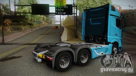 Mercedes-Benz Actros Mp4 6x4 v2.0 Gigaspace v2 для GTA San Andreas вид слева