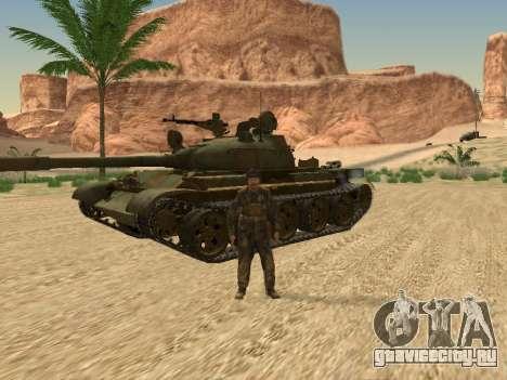 Т-62 для GTA San Andreas вид изнутри