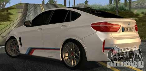 BMW X6M PML ED для GTA San Andreas вид справа