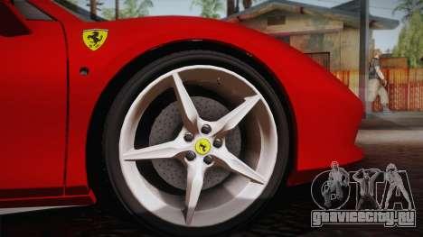 Ferrari 488 Spider для GTA San Andreas вид сзади