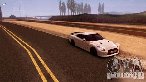Nissan GT-R R35 для GTA San Andreas вид сбоку