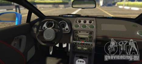 Lamborghini Gallardo Liberty Walk LB Performance для GTA 5 вид сзади слева