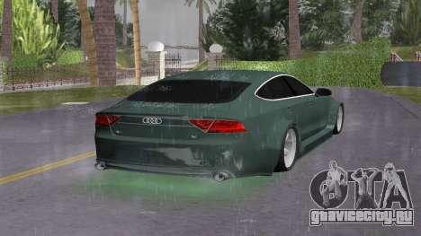 Audi A7 Sportback для GTA Vice City вид сзади слева