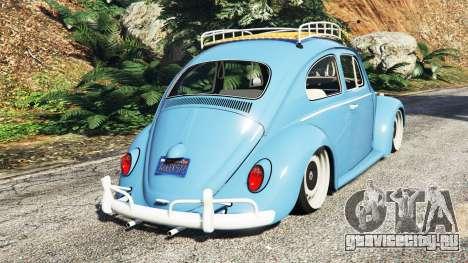 Volkswagen Fusca 1968 v0.9 [replace] для GTA 5 вид сзади слева