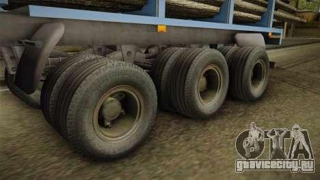 МАЗ 99864 Trailer v1 для GTA San Andreas вид сзади