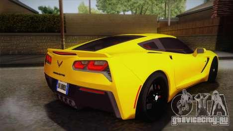 Chevrolet Corvette Stingray 2015 для GTA San Andreas вид слева