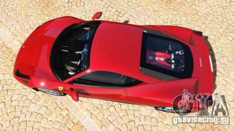Ferrari 458 Italia v2.0 [add-on] для GTA 5 вид сзади