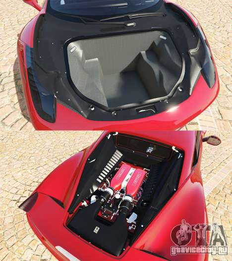 Ferrari 458 Italia v2.0 [add-on] для GTA 5 вид справа