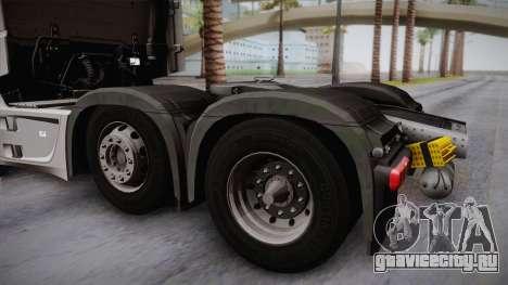 Mercedes-Benz Actros Mp4 6x2 v2.0 Steamspace для GTA San Andreas вид справа