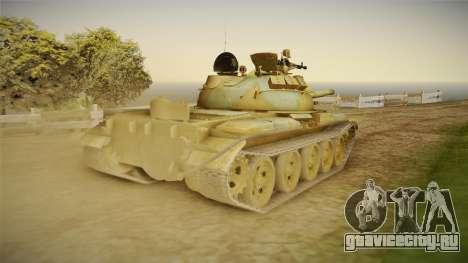 T-62 Desert Camo v2 для GTA San Andreas вид справа