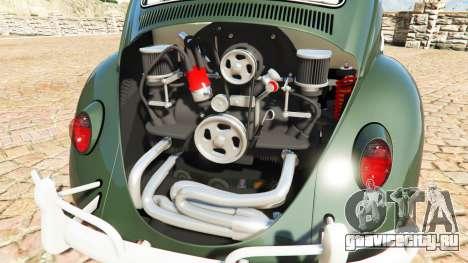 Volkswagen Fusca 1968 v1.0 [replace] для GTA 5 вид справа