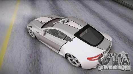 NFS: Carbon TFKs Aston Martin Vantage для GTA San Andreas вид изнутри