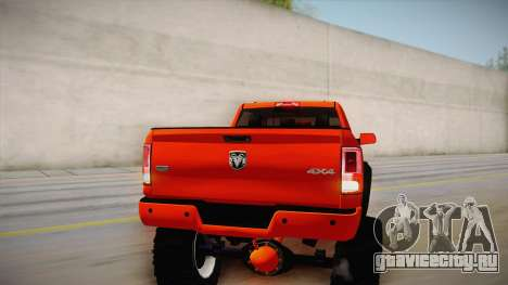 Dodge Ram 2500 Lifted Edition для GTA San Andreas вид сверху