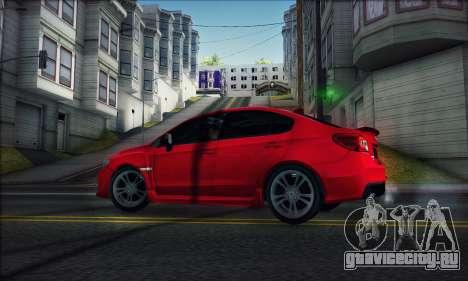 Subaru WRX 2015 для GTA San Andreas вид сзади слева