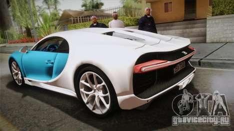 Bugatti Chiron 2017 v2.0 Korean Plate для GTA San Andreas вид слева
