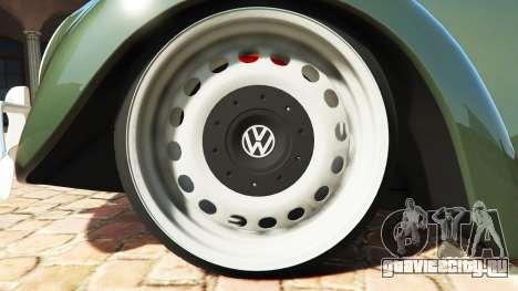 Volkswagen Fusca 1968 v1.0 [replace] для GTA 5 вид сзади справа