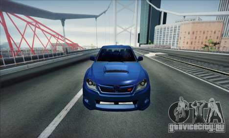 Subaru Impreza WRX STI 2011 для GTA San Andreas вид слева
