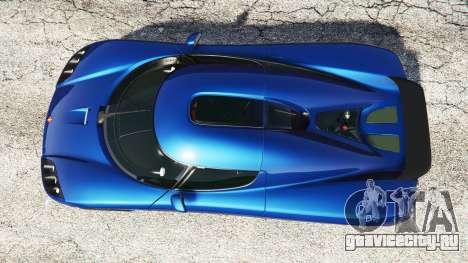 Koenigsegg CCX 2006 [Autovista] v2.0 [replace] для GTA 5 вид сзади