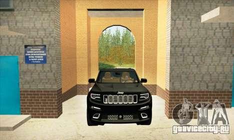 Jeep Cherokee SRT 8 для GTA San Andreas вид изнутри