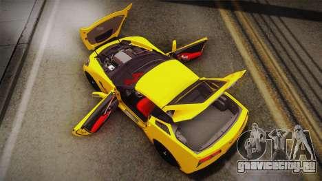 Chevrolet Corvette Stingray 2015 для GTA San Andreas салон