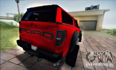 Ford F150 Raptor Long V12 для GTA San Andreas вид сзади слева