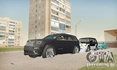 Jeep Cherokee SRT 8 для GTA San Andreas вид сзади