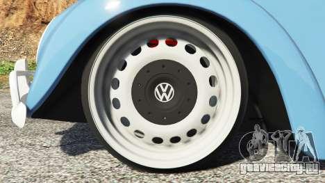 Volkswagen Fusca 1968 v0.9 [replace] для GTA 5 вид сзади справа