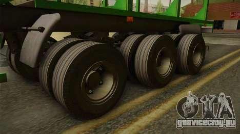 МАЗ 99864 Trailer v2 для GTA San Andreas вид сзади