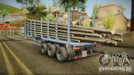 МАЗ 99864 Trailer v1 для GTA San Andreas вид сзади слева