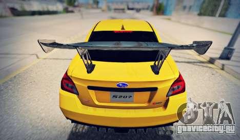 Subaru WRX STI S207 NBR CHALLENGE YELLOW EDITION для GTA San Andreas вид справа