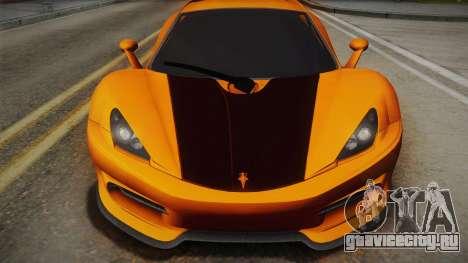 HTT Plethore LC750 2012 для GTA San Andreas вид сзади слева