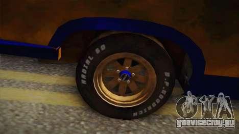 Ford Falcon 1973 Mad Max: Fury Road для GTA San Andreas вид сзади