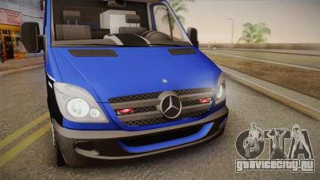 Mercedes-Benz Sprinter 2012 Midwest Ambulance для GTA San Andreas вид сзади слева