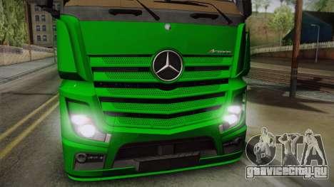 Mercedes-Benz Actros Mp4 4x2 v2.0 Gigaspace для GTA San Andreas вид сзади слева
