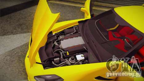 Chevrolet Corvette Stingray 2015 для GTA San Andreas вид сверху