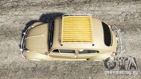 Volkswagen Fusca 1968 v0.8 [replace] для GTA 5 вид сзади